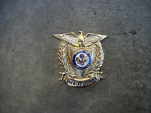 vintage obsolete Arkansas ARK Sheriff police hat mini badge
