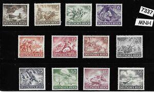 MNH Third Reich Germany stamp set 1943 Military Hero's Wehrmacht Luftwaffe