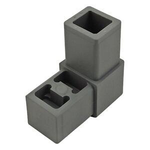 80-20-Inc-Quick-Frame-Gray-Nylon-2-Way-Corner-Connector-9120-N