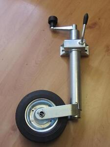 jockey-wheel-Med-duty-48mm-clamp-trailer-caravan-stand-wind-up-trailor-horse-box