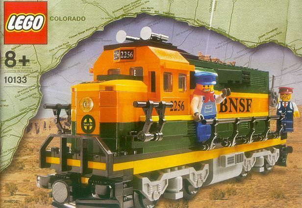 Lego Tåg BNSF GP -38 Locomotive New Sealead