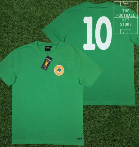 Republic of Ireland Shirt - Toffs Retro Football Shirt - Number 10