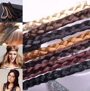 87fbb608c915ae Das Bild wird geladen Geflochten-Stirnband-Zopf-Haarband-Haarreifen -Holz-Perlenkette-Leder-
