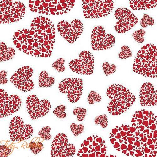 Cellophane Wrap Florist Hamper Folded Heart Love Birds 1m 2m 5m Valentines Gift