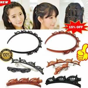 Double-Bangs-Hairstyle-Hairpin-Women-Girls-Hair-Braided-Bangs-Clip-Gifts