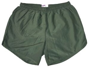 Olive-Drab-Nylon-Military-P-E-PT-Running-Volleyball-Shorts-by-Soffe-Men-039-s-Small