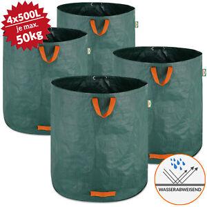 Details Sur 4x Sacs De Jardin 500l 50 Kg Sac De Dechets Ordures Tissu Renforce Pliable