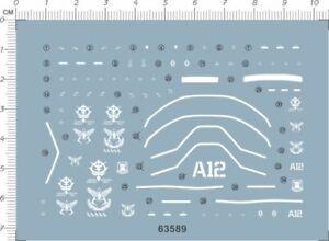 HG 1//144 Scale GTO 01 HG CHAR/'S ZAKU ⅡMS-06S Gundam Model Kit Water Slide Decal