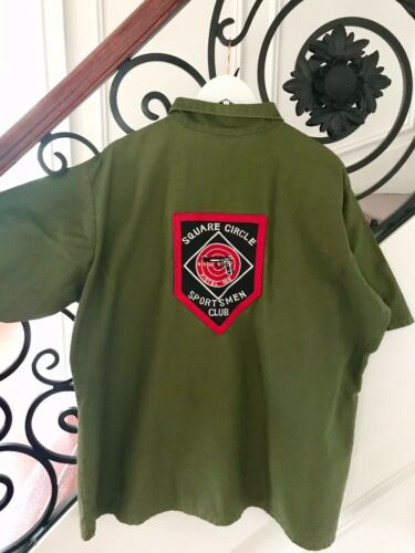 Vintage Sweet-Orr Green Shirt XL Square Circle Spo