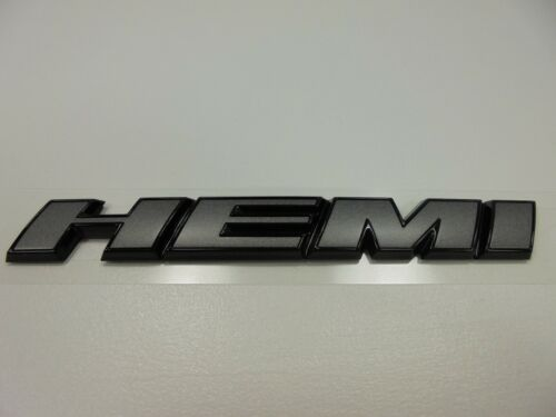 2015 Charger Challenger 300 New Fender Black /& Gray Hemi Emblem Black Mopar Oem