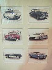 Golden Ear Collector Cards - Jaguar Classics - Serie 3 (in Passpartout)