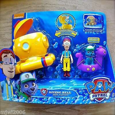 Nickelodeon PAW PATROL DIVING BELL CAPTAIN TURBOT BATH PLAYSET Vehicle Figure 3+