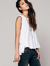 $68 Free People Circle In the Sand Beach House Tank White XS/S