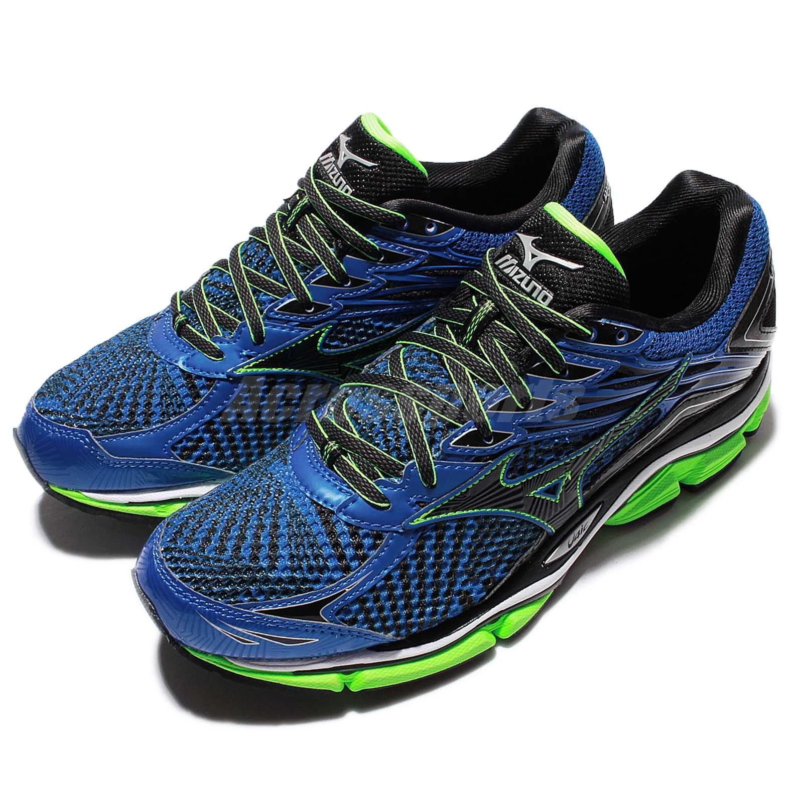 Mizuno Wave Enigma 6 VI Negro Azul verde Hombre Para Correr Zapatos Tenis J1GC16-1109