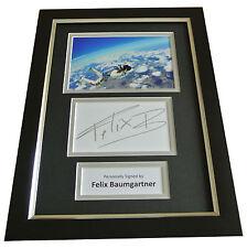 Felix Baumgartner Signed A4 FRAMED Photo Mount Autograph Display Red Bull & COA