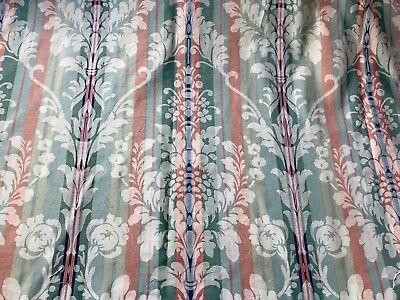 Vintage Laura Ashley Cream Floral Fabric Fat Quarter 22x18 Inches
