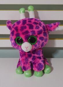 TY Beanie Boo - Gilbert The Pink Giraffe Medium 26CM PURPLE AND ... 193a6397c638