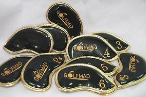 10-Golf-Mad-Waterproof-Iron-Covers-Headcovers-for-Ping-Titleist-Cobra-ONLY