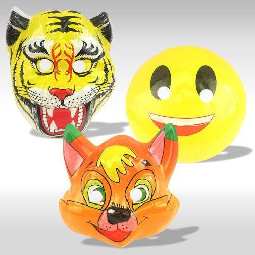 12 x Kids Fancy Dress Face Mask Animal Emoji Party Birthday Bag Toy Costume