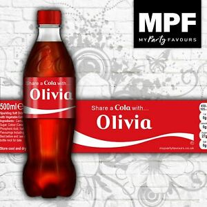 Personalised 'Share a Cola' Bottle Labels (Coke / Diet / Zero)