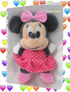 Dynamique Doudou Peluche Minnie Robe Rose A Petits Pois Nicotoy Disney 18 Cm Apparence éLéGante