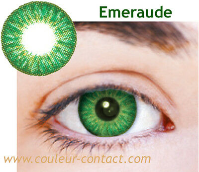 SALE: EMERAUDE COULEUR DE LENTILLE COLOURED LENS VERRE CONTACT DARK PETITE PUPIL