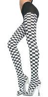 NASCAR Checkered Flag Checker Board PANTYHOSE/TIGHTS O/S