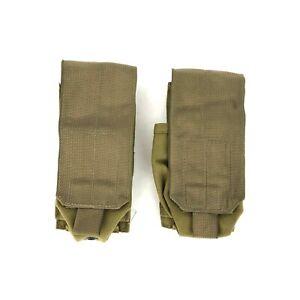 Eagle Industries Smoke Grenade Pouch, USGI, Khaki, MOLLE SFLCS Kit, 2 PACK