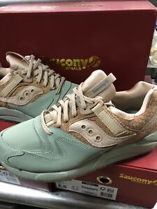 detailed look f2f5c dfb10 Image is loading SAUCONY-ORIGINALS-GRID-9000-HT-TAN-OLIVE-GREEN-