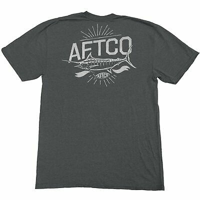 40/% Off AFTCO SS Camo Stack Tee Shirt Fishing Pick Size//Color