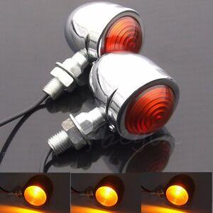 Chrome-Feu-Clignotant-Indicateur-Moto-Bullet-Ambre-Turn-Signal-Lamp-Pour-Harley