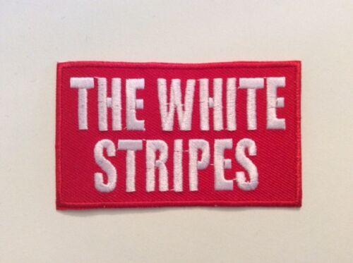 NEUF THE WHITES STRIPES 8*4,5 cm M265 //// ECUSSON PATCH AUFNAHER TOPPA