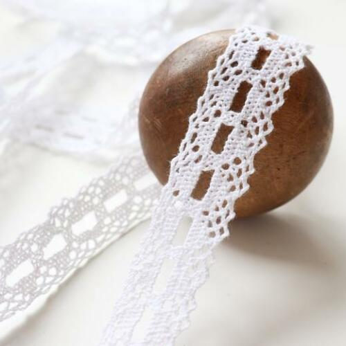 Buddly Crafts 20mm Eyelet Cotton Crochet Lace 2m White