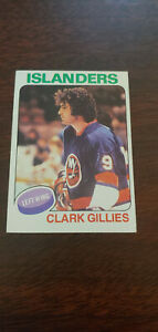 1975-76 Topps Clark Gillies Rookie Ice Hockey Card #199 Pittsburgh Penguins NM