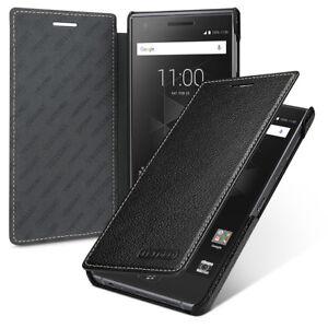 sale retailer 97374 cca1e Details about for BlackBerry Motion TETDED Genuine Leather Flip Case Cover  Black Blue Red Pink