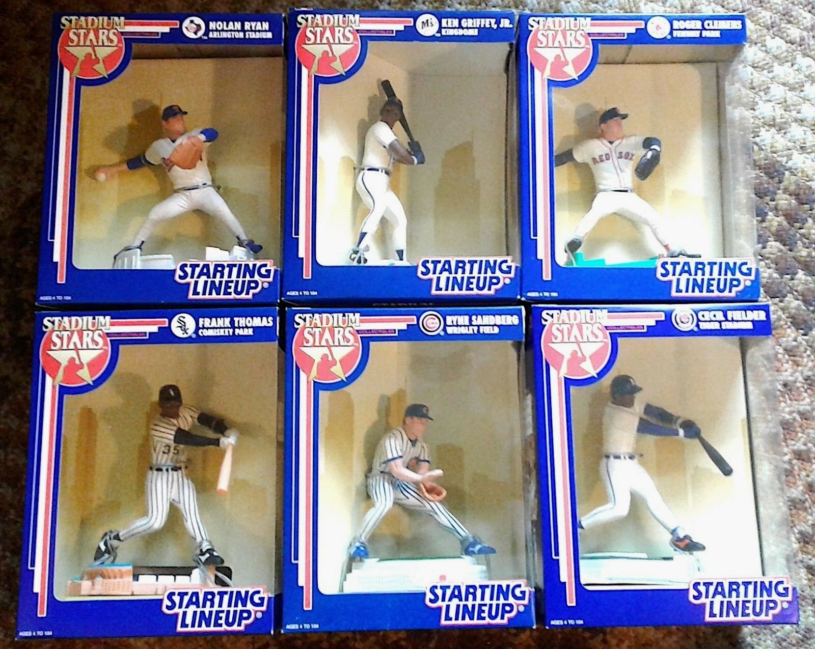 1992 STARTING-LINEUP NEW  STADIUM STARS  FULL SEALED LARGE SET of 6  MINT