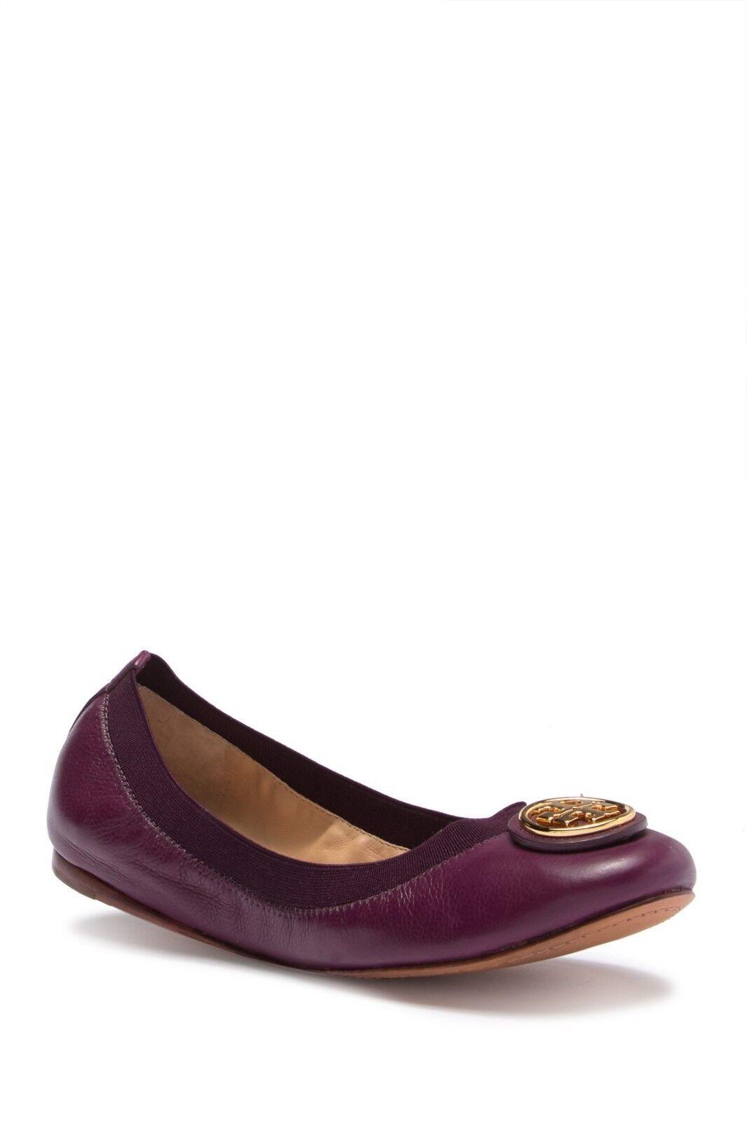 Nuevo En Caja Tory Burch Caroline 2 sin Mujer Zapatos De Ballet Zapatos sin 2 Taco Sin Ciruela Salvaje 6 M 34e1e3