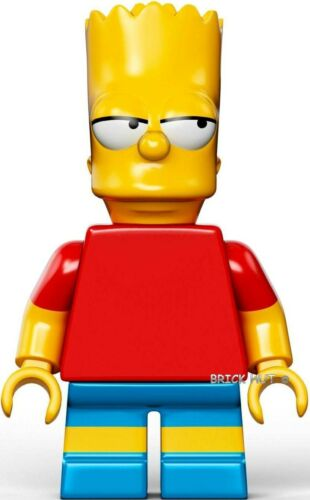 LEGO THE SIMPSONS BART SIMPSON FIGURE + FREE GIFT V.RARE BESTPRICE NEW