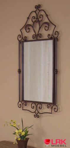 1759 Wandspiegel mit Verzierung Spiegel in 2 Farben Metall mit Hammerschlag