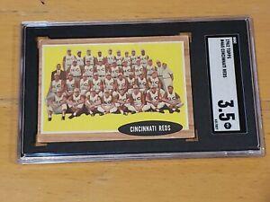 1962 Topps #465 Cincinnati Reds SGC 3.5 Newly Graded