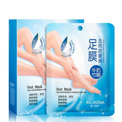 Soft Milk Bamboo Vinegar Peeling Foot Mask For Diy Foot