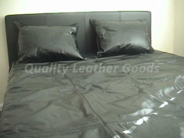 Premium Kunstleder Bettbezug alle Größen Größen Größen schwarz zwei Seiten Leder 08799b