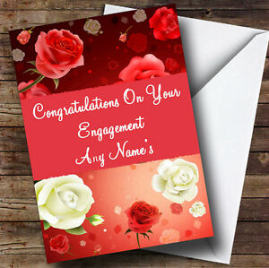 Beautiful roses personalised engagement greetings card ebay image is loading beautiful roses personalised engagement greetings card m4hsunfo