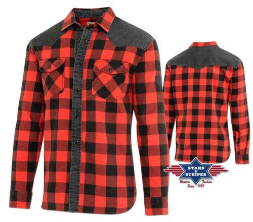 "S-3XL Westernhemd Cowboy Western Hemd /""Lumberjack/"" Gr"