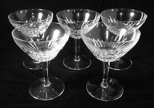 Glassware Set of 5 Wine Glasses Margarita  Daiquiri Frozen Martini  5 oz