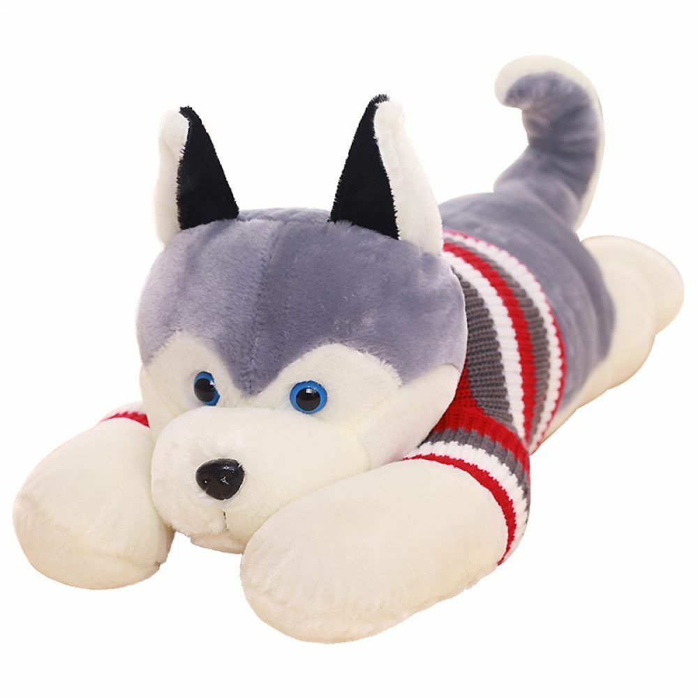 Jumbo Giant Plush Husky Dog Soft Toy doll pillow Stuffed Animal Birthday gift UK
