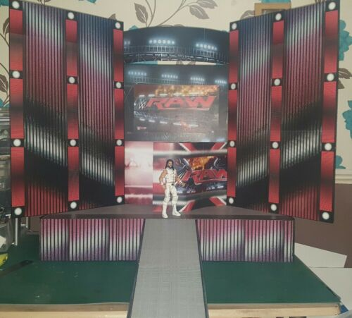 WWE RAW 2015 CUSTOM Entrance Stage for Wrestling figures