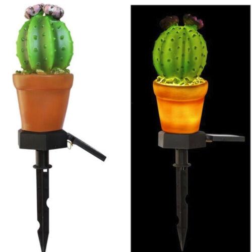 Outdoor Garden Lawn Light Pineapple//Cactus Solar Lights Landscape Security Lamp