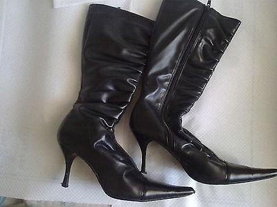 Rigoroso No Doub - Stivali Girl Boots High Heels - Black - Neri - Size: 5 Uk - Good!