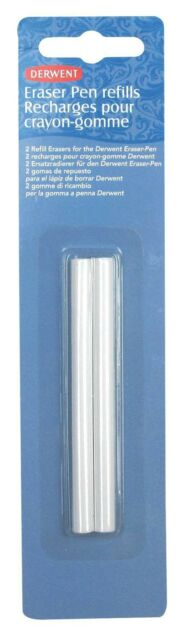 Derwent Eraser Pen Refills Replacements Pack of 2